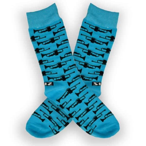 trumpet design socks