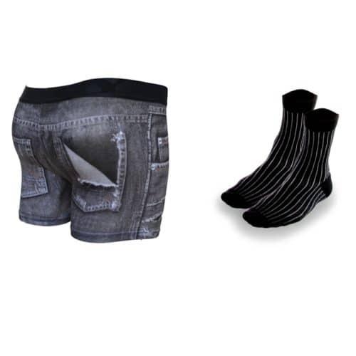 mens underwear pack in black