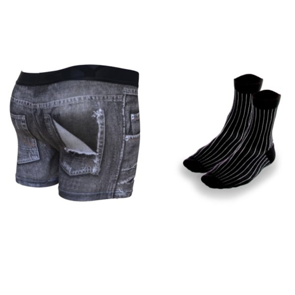 mens underwear pack in black