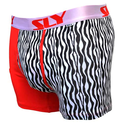 Mens red cotton trunks