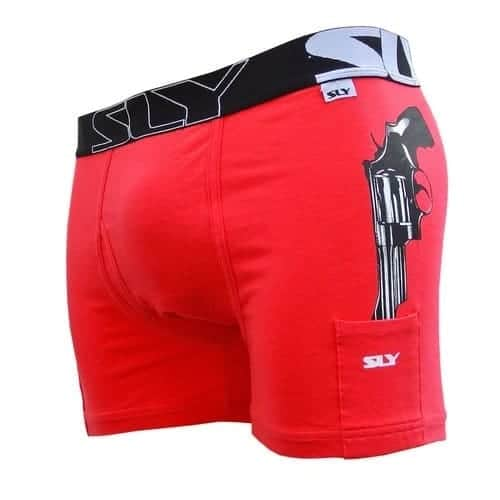 Cop Issue red cotton trunks