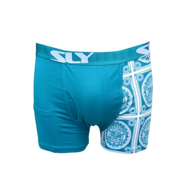 mens light blue trunks underwear