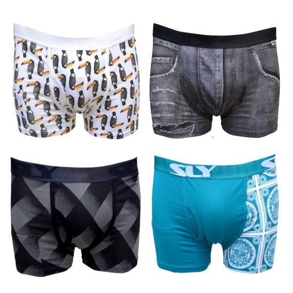 4 Pack Cotton Trunks Multipack