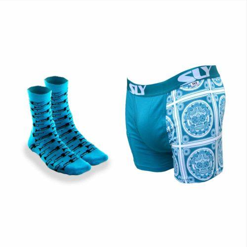 mens underwear pack in blue